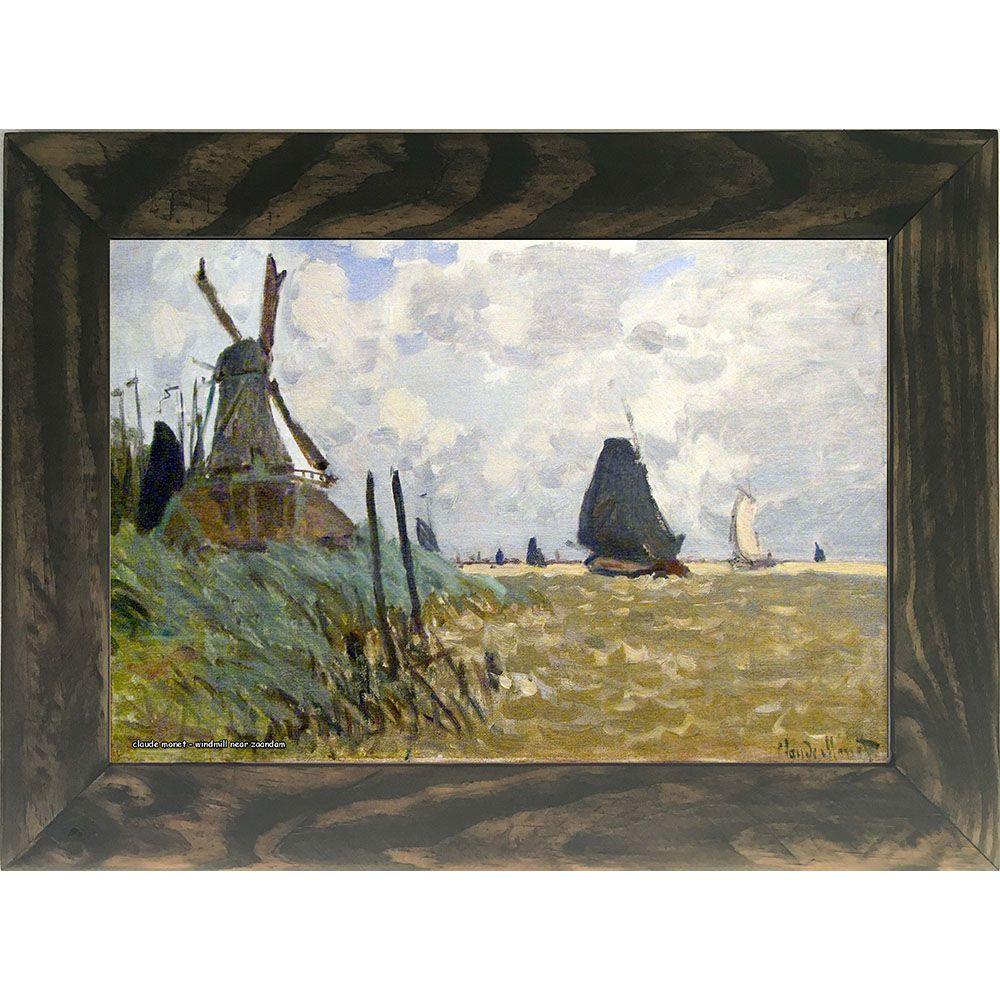 Quadro Decorativo A4 Windmill Near Zaandam - Claude Monet Cosi Dimora
