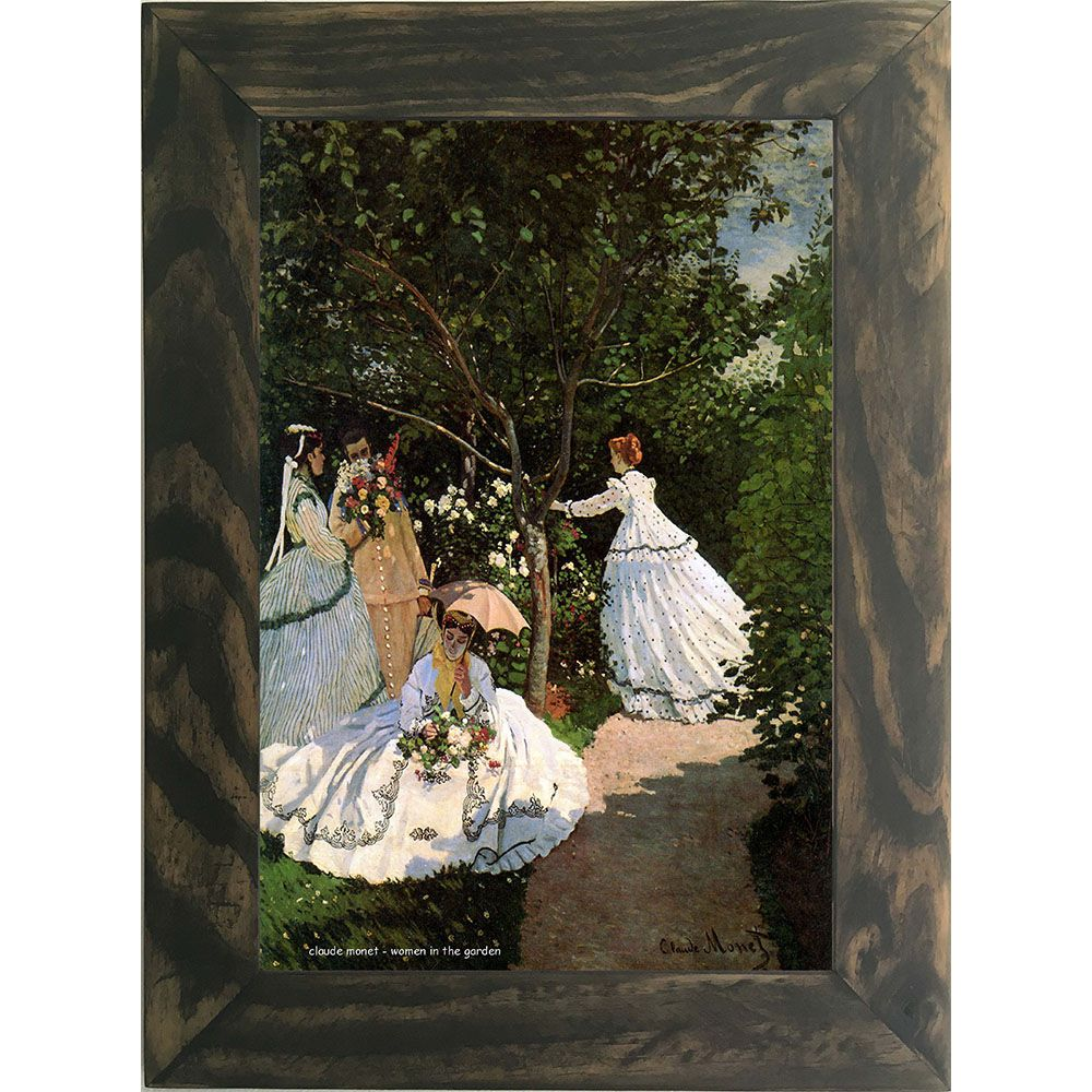 Quadro Decorativo A4 Women in the Garden - Claude Monet Cosi Dimora