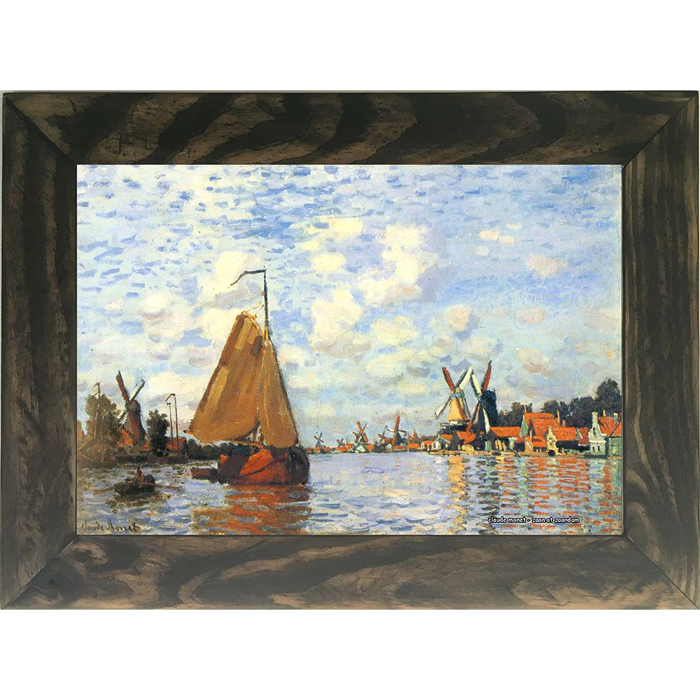 Quadro Decorativo A4 Zaan at Zaandam - Claude Monet Cosi Dimora