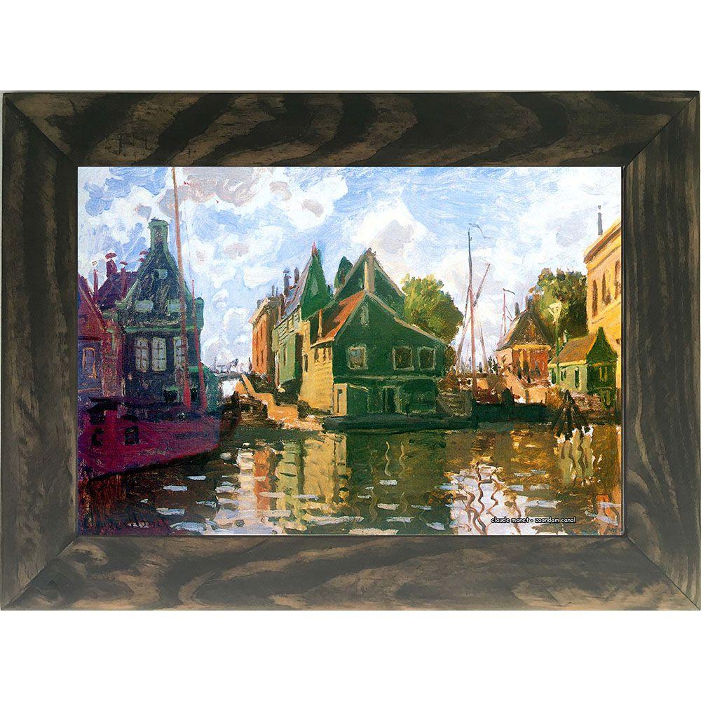 Quadro Decorativo A4 Zaandam Canal - Claude Monet Cosi Dimora