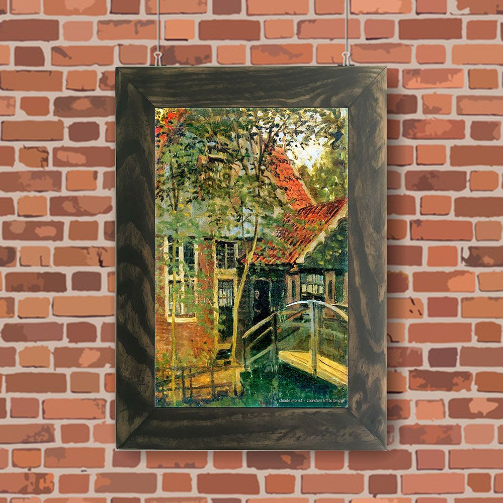Quadro Decorativo A4 Zaandam Little Bridge - Claude Monet Cosi Dimora