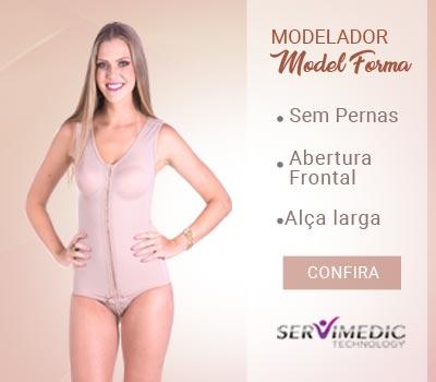 modelador sem pernas com abertura frontal e alça larga