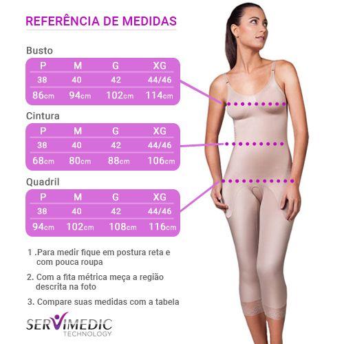 Cinta Modeladora Longa com Alça Elástica Sem Abertura - Compress Premium