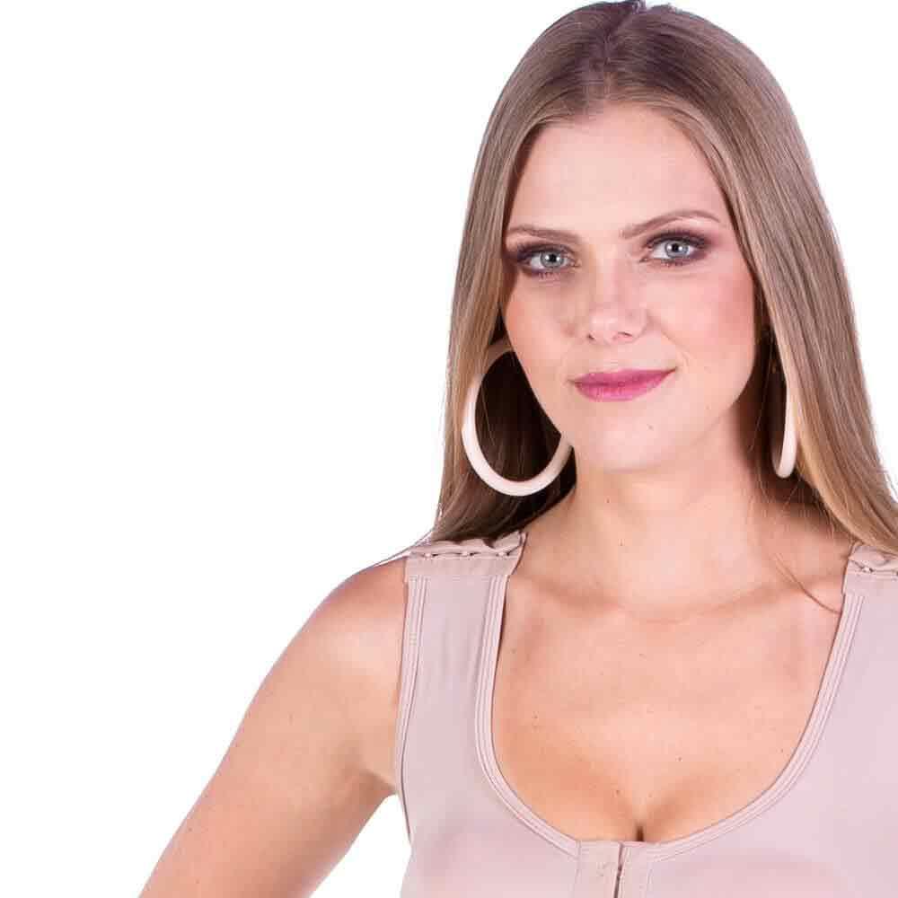 Cinta Modeladora Pós Cirúrgica Curta Com Alça Larga - Model Forma