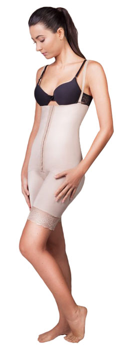 Cinta Pós Cirurgica Curta Cintura Alta com Abertura Frontal - Compress Premium  - Servimedic Technology