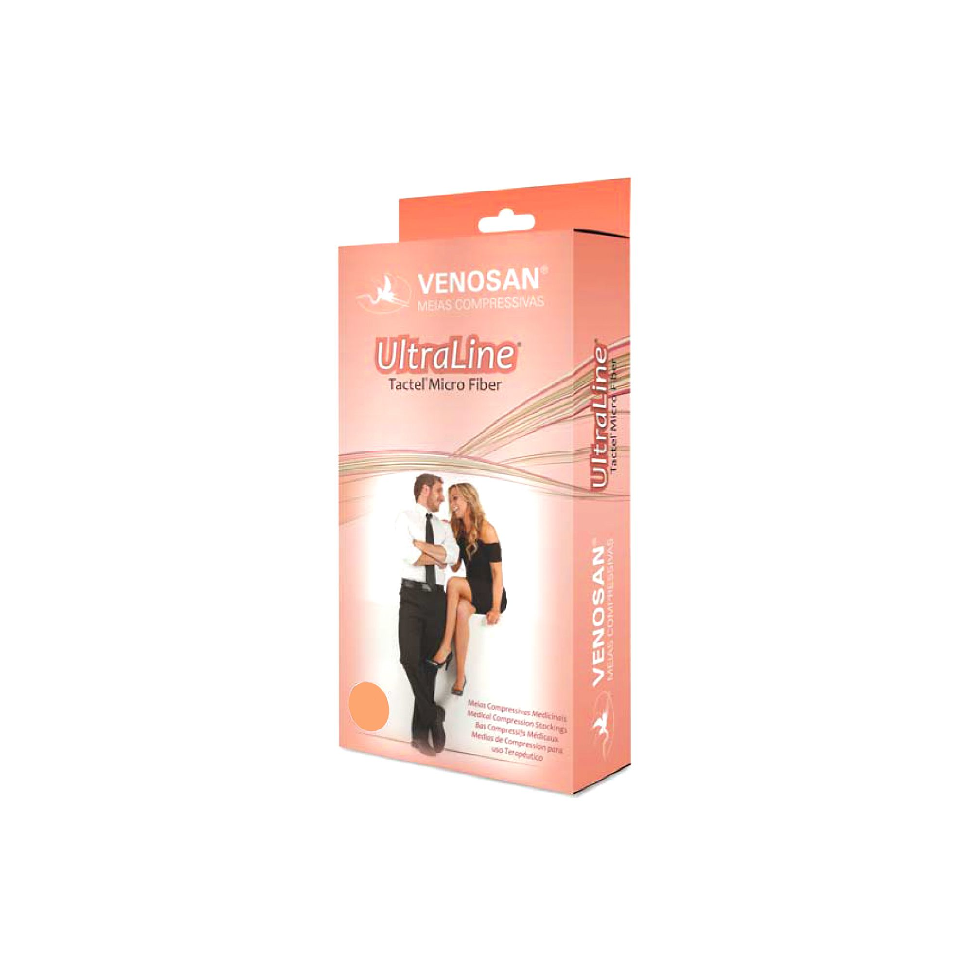 Meia elastica media compressão 20 30 mmhg ultraline 4000