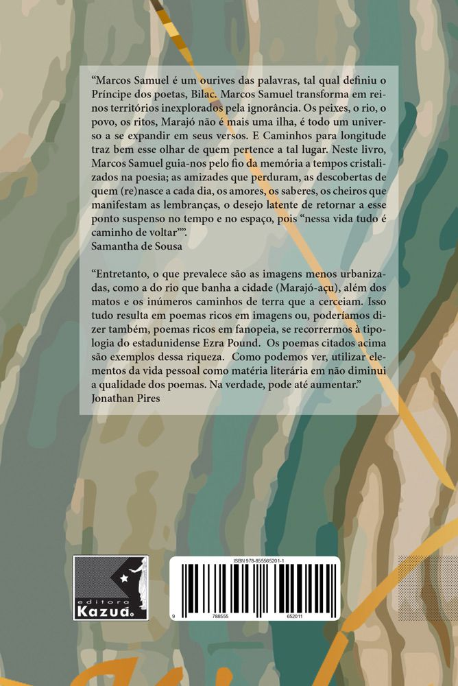 Caminhos para longitude, de Marcos Samuel Costa