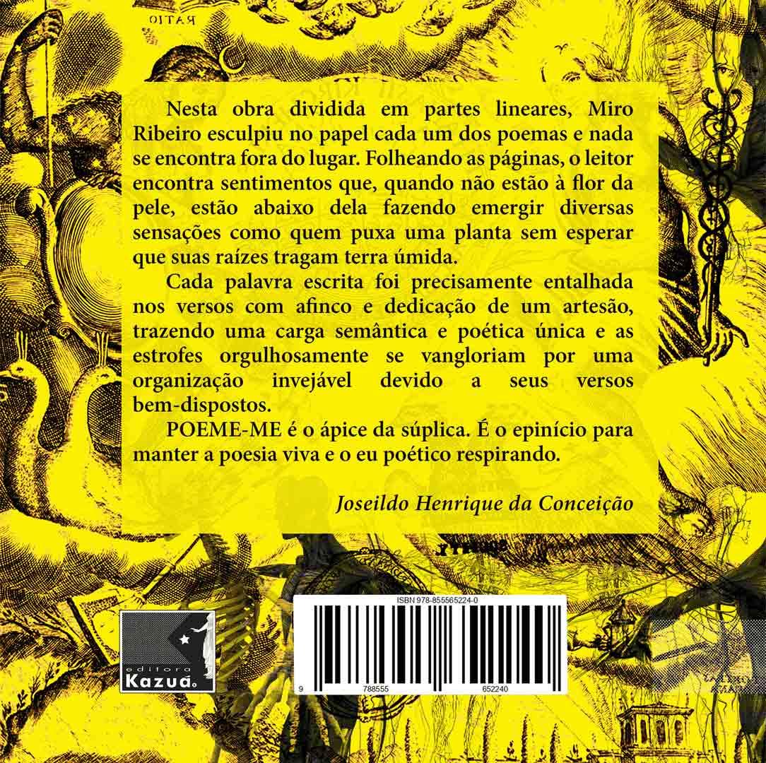 Poeme-me, de Miro Ribeiro - Pré-lançamento
