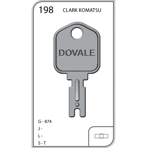 Auto Chave Empilhadeira Clark Komatsu - 198