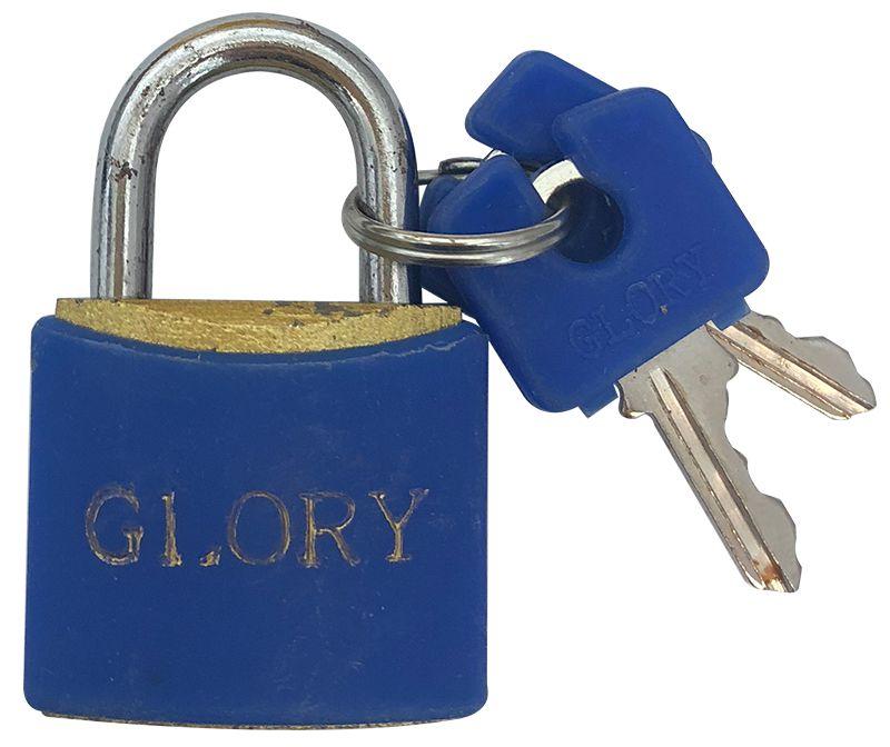Cadeado Glory 25mm Cores Sortidas  - 18325