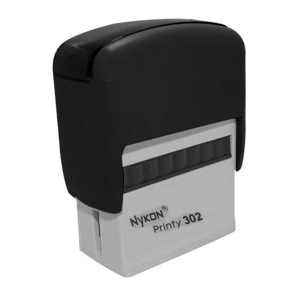 Carimbo Nykon N302 Preto 14x38mm - 96015