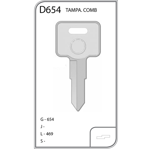 Chave Auto Dupla Tampa Comb.  - D654