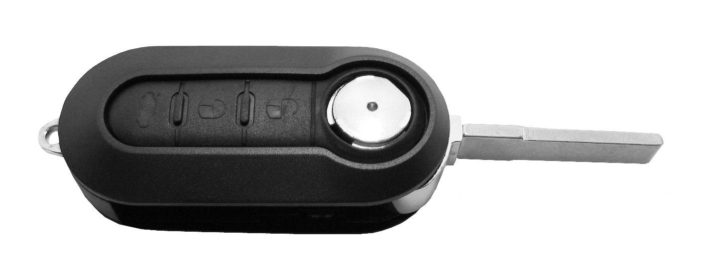Chave Canivete Fiat Novo Preta C/ Lâmina P/ Alarme PST 293/300  - 15932