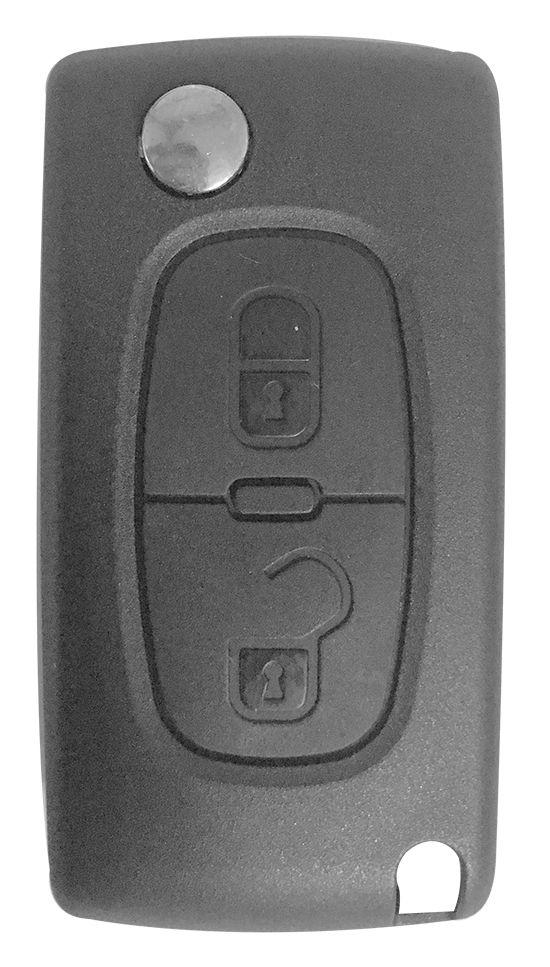 Chave Canivete Peugeot 307 2 botões c/ lâmina oca - 16531