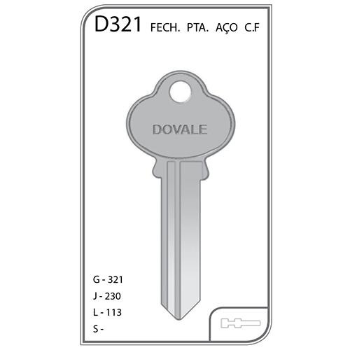 Chave Pinatel Arouca Porta Aço - D321 - VENDA SOMENTE PELO TELEVENDAS