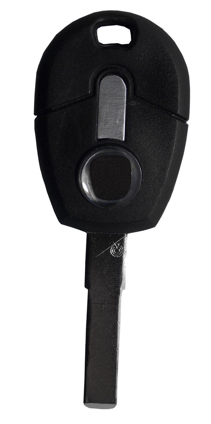 Chave Plástica Palio Novo Pantográfica gaveta preta - 3895