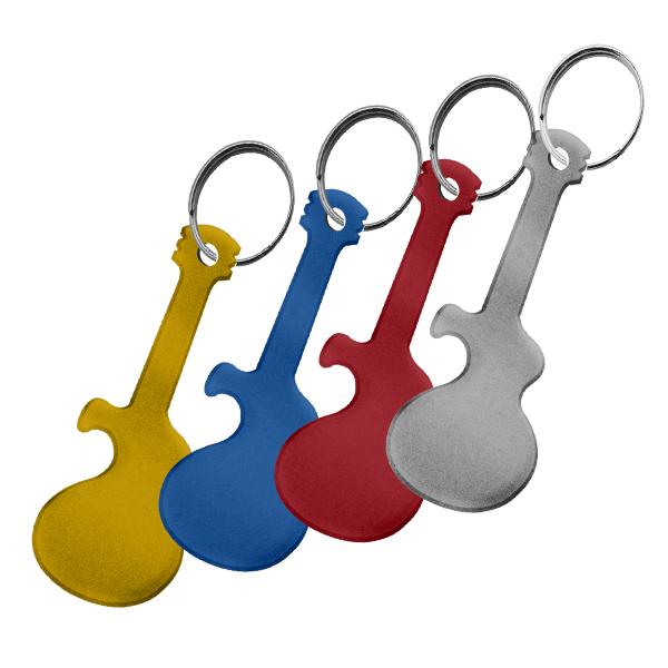 Chaveiro Alumínio Guitarra Abridor Pacote C/ 10 - 73250