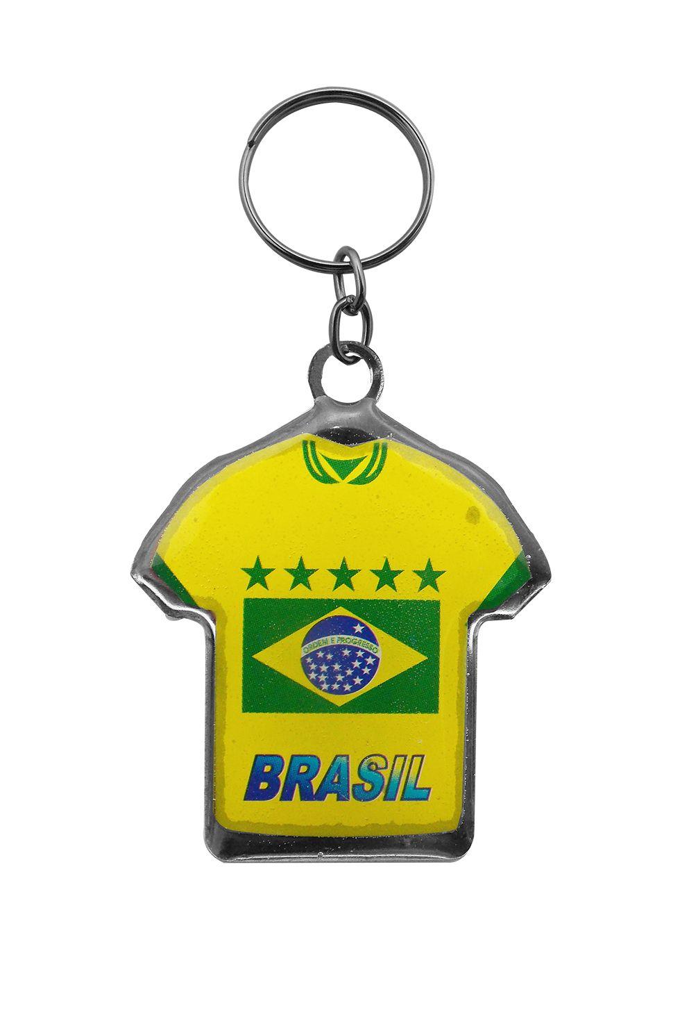 Chaveiro Camisa Brasil PCT c/ 10 - 8146