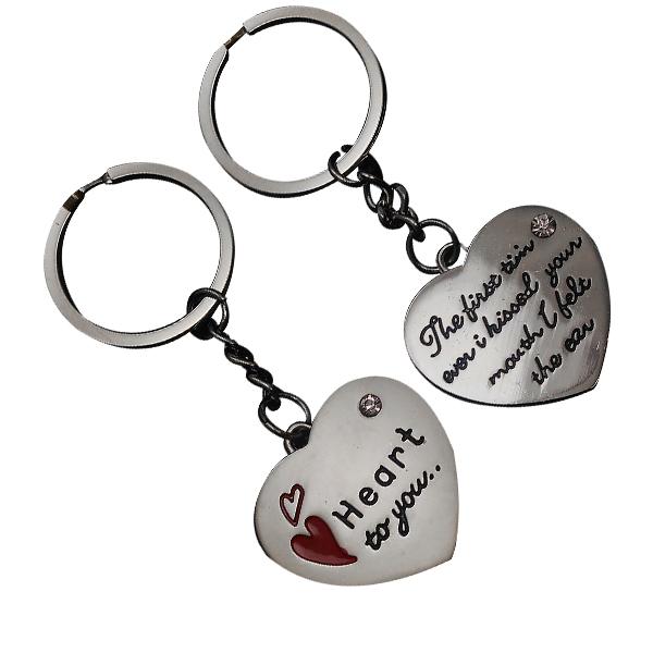 Chaveiro Romântico Duplo Modelo Coração Heart To You - 70313
