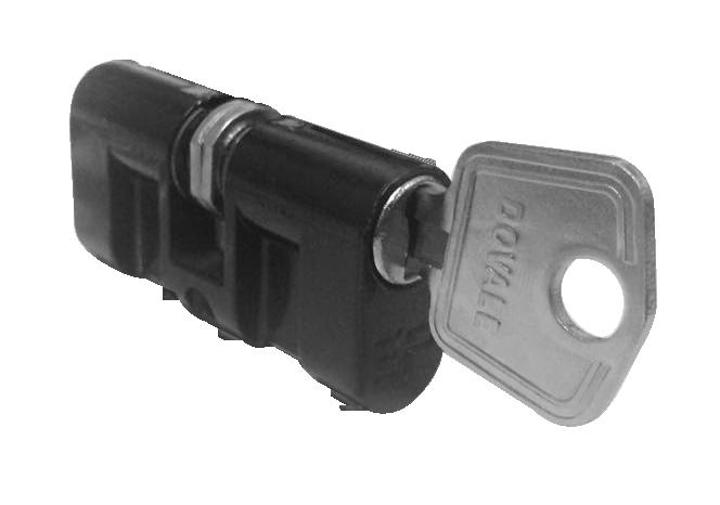 Cilindro 3F Mod. Haga Monobloco fino preto - 31129