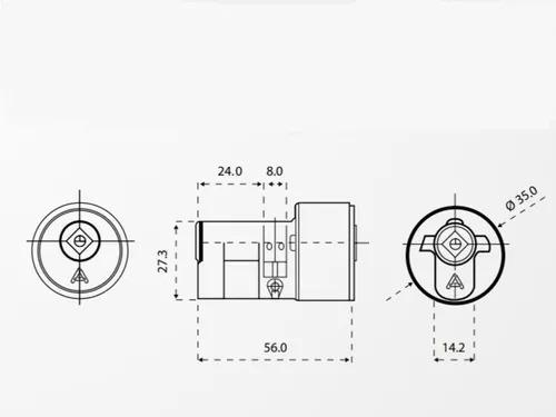 Cilindro Aliança Tetra P/ Fechad. C-800 CR - 32000