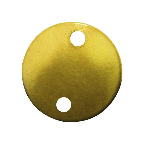 Etiqueta de Aluminio Redonda Colorida 51MM Pacote com 12 - 71758