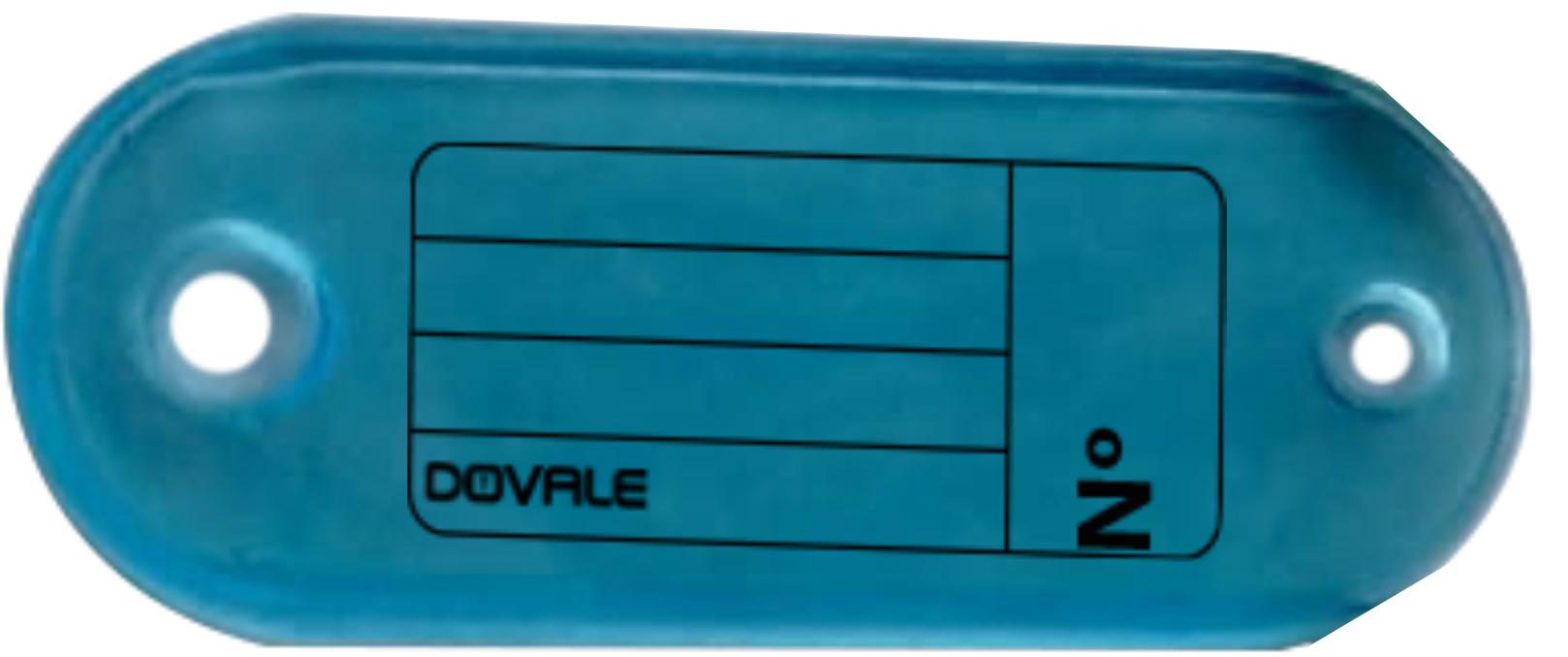 Etiqueta Dovale p/ Chaves Modelo 1 Azul Pacote sortido c/100 - 77268