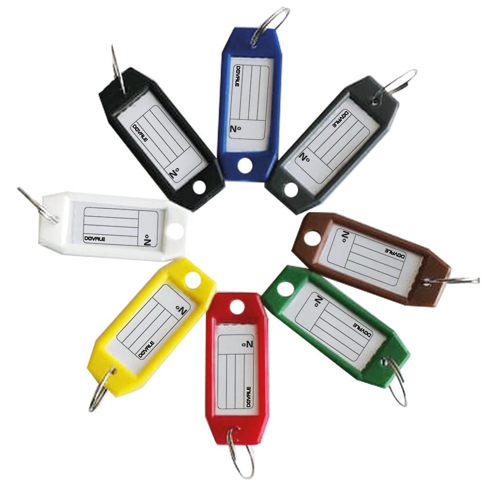 Etiqueta Dovale p/ chaves modelo 3 Refil com 100 cores sortidas - 77274