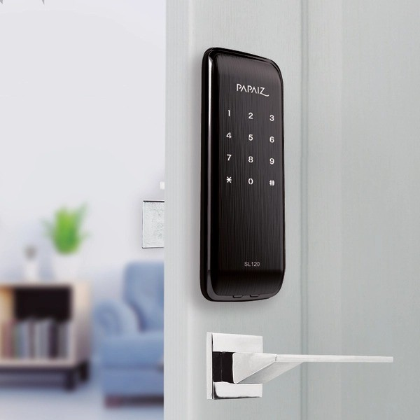 Fechadura Digital Papaiz Smart Lock SL120 Preto Fosco - 45115