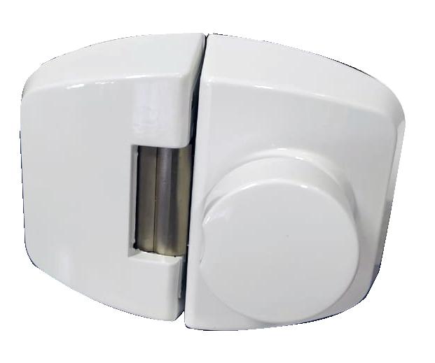 Fechadura Elétrica Dovale P/ Porta de Vidro D12 Branca - 45011