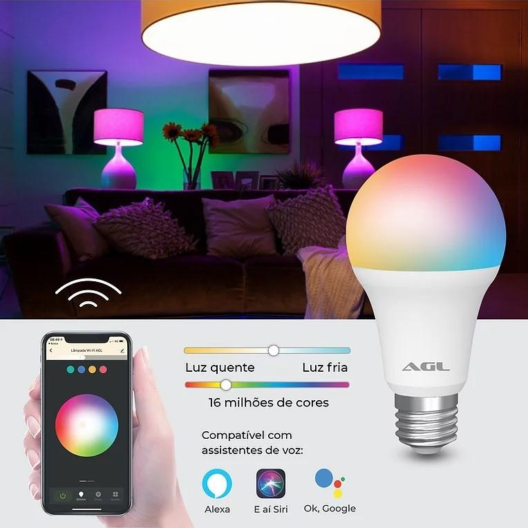 Lâmpada Inteligente wi-fi AGL - 40100