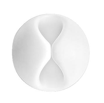 Organizador Emborrachado Branco P/ Cabos - Pote C/ 25 PÇS - 25128