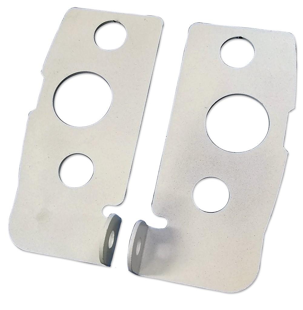 Porta Cadeado modelo chapa (Espelho) P/ Porta de Vidro - 11239