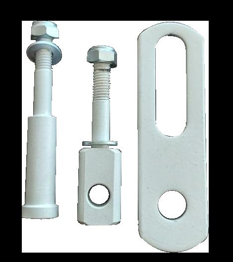 Porta Cadeado Porta Vidro Branco Grande Chapa 10,5CM - 11237