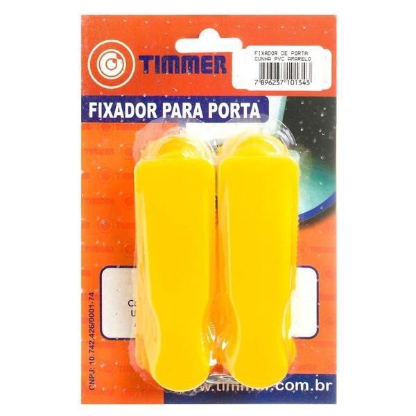 Prendedor P/ Porta PVC Amarelo C/4 - 23127