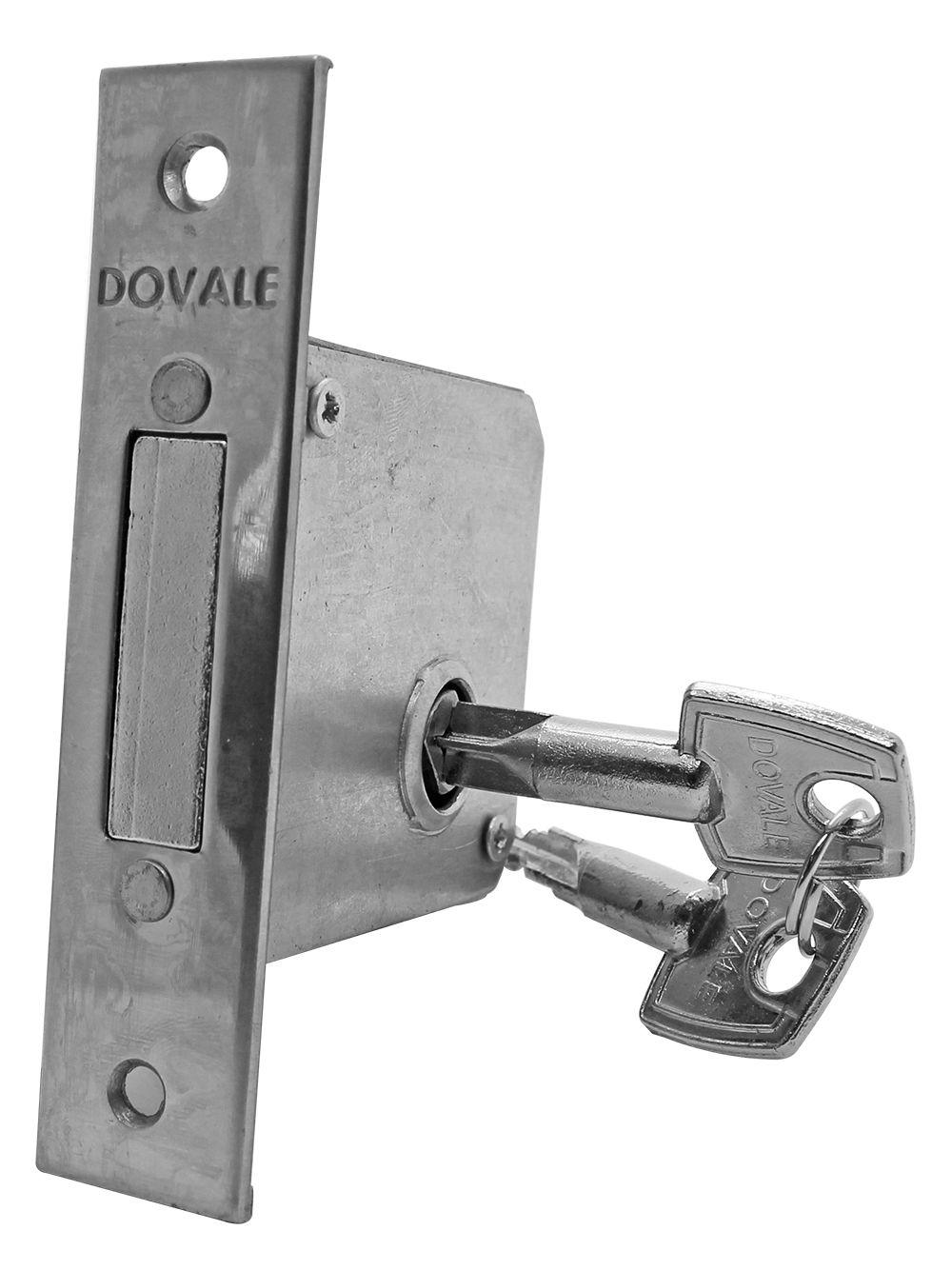 Trava de Segurança Tetra Dovale CR Cil. Zamac e chave latão - 78406