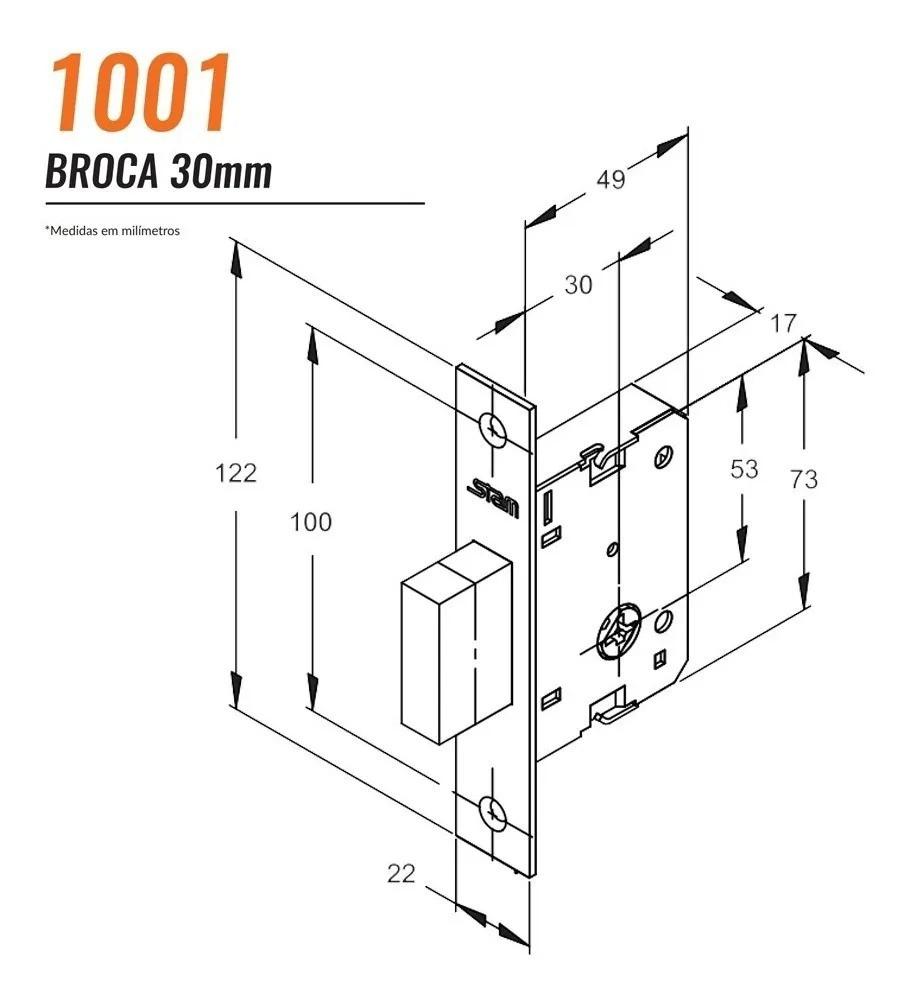Trava de Segurança tetra Stam 1001/EI CR  Par- 70001