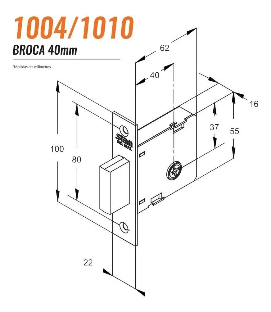 Trava de Segurança Tetra Stam 1004 CR  Par - 72004