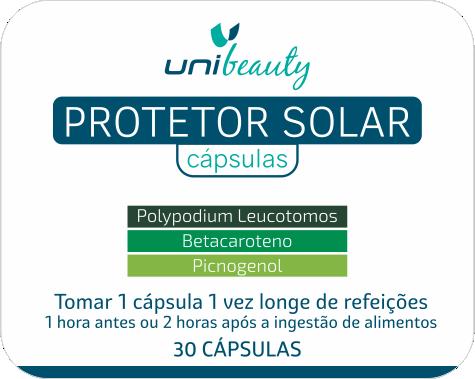 Polypodium Leucotomos Protetor Solar em cápsulas + Beta Caroteno + Picnogenol em cápsula 30 Cápsulas
