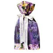 Kit Presente Uva Saco de tecido com detalhe transparente