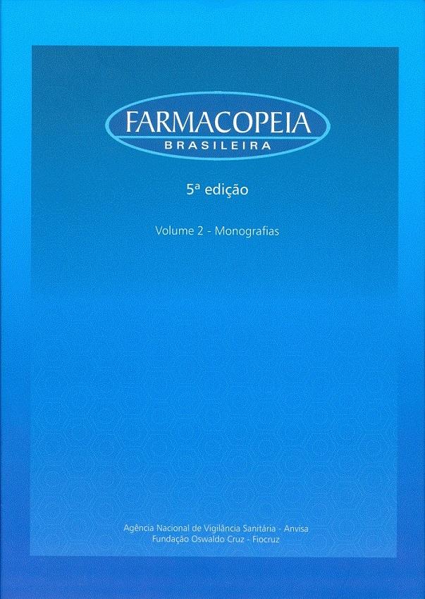 Farmacopeia Brasileira (volumes 1 e 2)  - Livraria Virtual da Editora Fiocruz