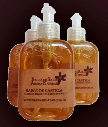 Sabão de Castela Líquido 100% Azeite de Oliva   - Barra de Sabão - Aroma Natural