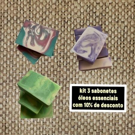 promoção sabonete óleos essenciais  - Barra de Sabão - Aroma Natural