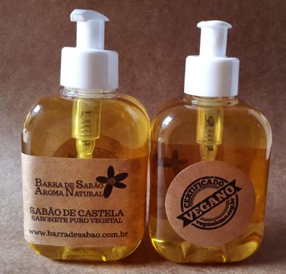 Sabão de Castela - Sabonete Líquido 100% Azeite de Oliva - 70  - Barra de Sabão - Aroma Natural