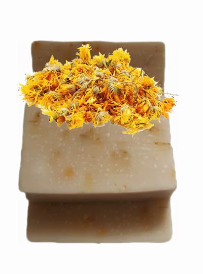 Sabonete pétalas de calêndula - amêndoas & cítricos - 2077  - Barra de Sabão - Aroma Natural