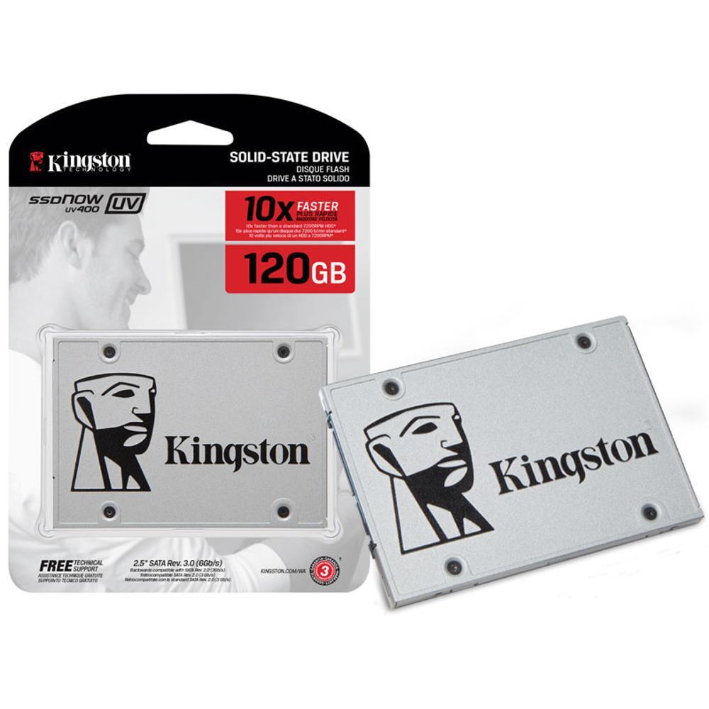 Hd Ssd 120Gb Sata 3 Kingston Uv400 550 Mb/s 10x + Rápido    - TNTinfo Loja