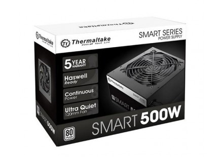 Fonte ATX Thermaltake 500W Smart Series 80 Plus PFC Ativo SPD-0500P PS-SPD-0500NPCWBZ-W  - TNTinfo Loja