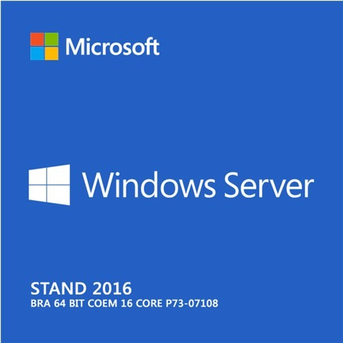 Microsoft Windows Server 2016 Standard 64 Bits P73-07108 COEM  - TNTinfo Loja