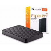 "HD Externo Portátil Expansion 2TB USB 3.0 Preto Seagate 2,5"" STEA2000400"