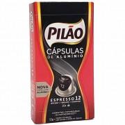 Kit 100 Cápsulas Alumínio Compatível Nespresso Café Pilão 12